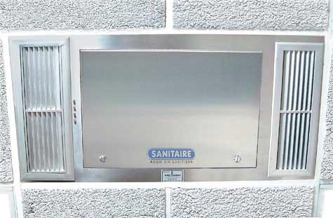 Sanitaire Ultraviolet Room Air Sanitizer Installation Photos